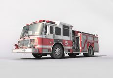 Firetruck. On clean white background Royalty Free Stock Images
