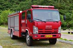 выставка firetruck пожара двигателя старая Стоковое Изображение RF