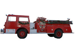 Firetruck. Red  firetruck isolated on white Royalty Free Stock Photography