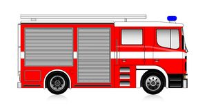 Firetruck. Big red firetruck isolated on white Stock Photo