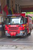 Firetruck chez Cameron Highlands, Malaisie Image libre de droits