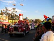 Firetruck classico, la contea di Los Angeles giusta, Fairplex, Pomona, California Fotografia Stock Libera da Diritti