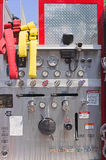 Firetruck control panel Royalty Free Stock Photos