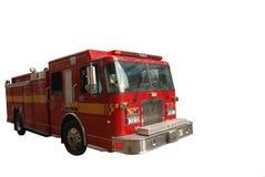Firetruck d'isolement sur le blanc Photo stock