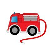 Firetruck de dessin animé Image libre de droits