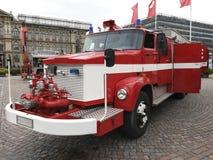 Firetruck de la obra clásica del vintage Fotos de archivo