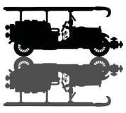 Firetruck de vintage illustration stock