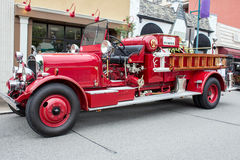 Firetruck 1932 del rojo Fotografía de archivo