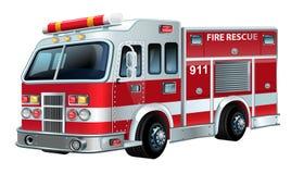 Firetruck del vector Imagen de archivo