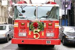Firetruck di natale Fotografie Stock Libere da Diritti
