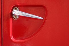 Firetruck door handle Royalty Free Stock Photo