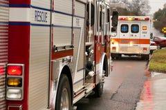 Firetruck e ambulância Imagem de Stock Royalty Free
