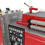 Firetruck equipment on White. 3D illustration Royalty Free Stock Photos