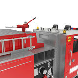 Firetruck equipment on White. 3D illustration. Firetruck equipment on White background. 3D illustration Royalty Free Stock Photography