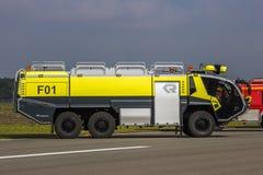 Firetruck för Rosenbauer PANTERcrashtender Fotografering för Bildbyråer
