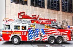 Firetruck FDNY di NYC Fotografie Stock Libere da Diritti