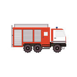 Firetruck for game, ui, app on a white background. Vector illustration. Eps10 Stock Image