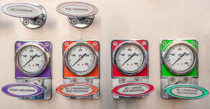 Firetruck gauges Stock Image