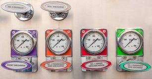 Firetruck gauges Stock Image