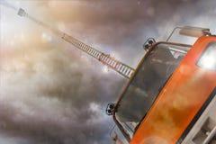 Firetruck, i att komponera för handling Royaltyfri Fotografi