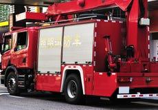 Firetruck i porslin Royaltyfria Foton