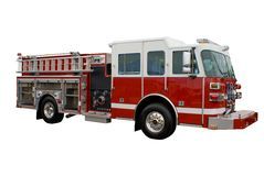 Firetruck (isolated) Stock Photo