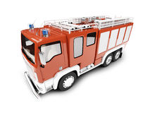 Firetruck isolated front view Royalty Free Stock Images