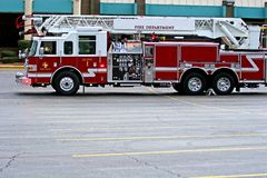 Firetruck in Lot Royalty Free Stock Images