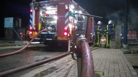 Firetruck Nederland stock afbeeldingen