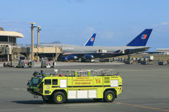 Fire truck at the airport Royalty Free Stock Photo
