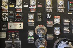 Firetruck Pump Panel Stock Photos