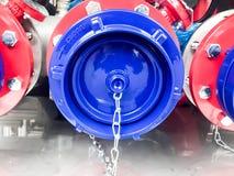 Firetruck. Pump Technology engine Pressure Stock Photo