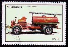 Firetruck, reeks, circa 1983 Stock Afbeeldingen