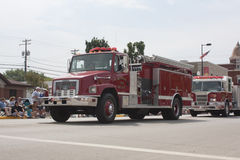 FireTruck rural do departamento dos bombeiros de Seymour Fotografia de Stock