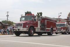 FireTruck rurale del corpo dei vigili del fuoco di Seymour Fotografia Stock