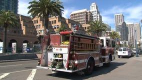Firetruck San Francisco almacen de video