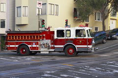 Firetruck - San Francisco - California Fotografia Stock