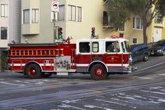 Firetruck - San Francisco - Kalifornien Arkivbild