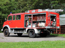 Firetruck in Schwarzwald Royalty Free Stock Photography
