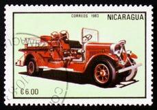 Firetruck, series, circa 1983 Royalty Free Stock Photography