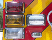 Firetruck tail lights Royalty Free Stock Photography