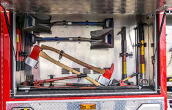 Firetruck Tools Royalty Free Stock Images
