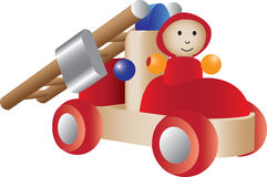 Firetruck toy illustration. An illustration of a firetruck toy Royalty Free Stock Photography