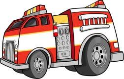 Firetruck Vector Illustration. Big Rescue Firetruck Vector Illustration Royalty Free Stock Images