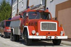 Firetruck velho foto de stock