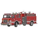 Firetruck on a white 3D Illustration. Firetruck on a white background 3D Illustration Royalty Free Stock Photography