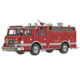 Firetruck on a white 3D Illustration. Firetruck on a white background 3D Illustration Stock Photo