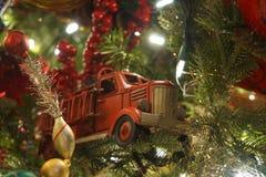 Firetruckornament stock foto's
