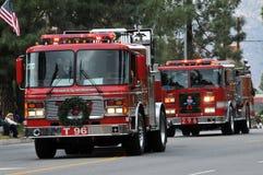 Firetrucks de Los Ángeles imagen de archivo