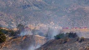 FIRETRUCKS du feu de forêt 1B banque de vidéos